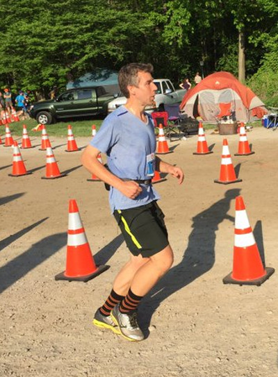 Me near the end of the Sulphur Springs Trail Race (Image Credit: Rich Gelder)